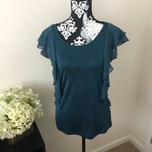 The Limited Ruffle Blouse